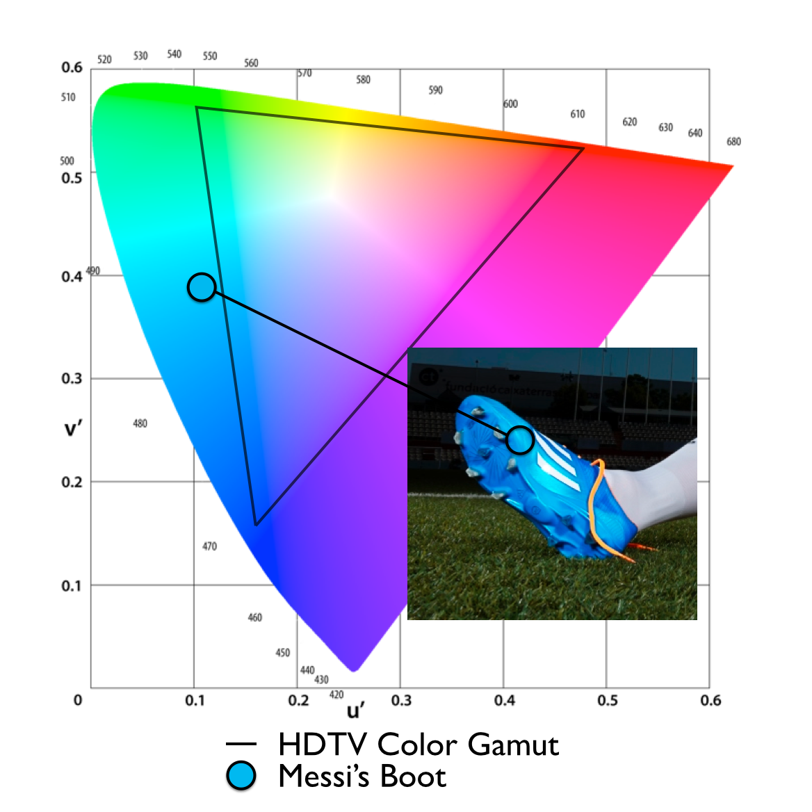 Watching the world cup finals this weekend your hdtv probably can the horseshoe shaped chart above represents the range of colors that our eyes can see and geenschuldenfo Gallery